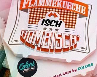 Visuel Flammekueche isch Bombisch – Colors – Strasbourg